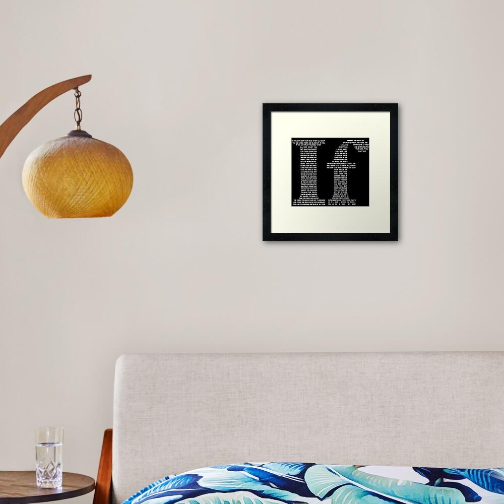 If poem | White Framed Art Print