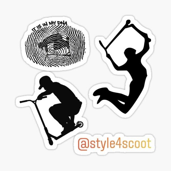 Silhouette de cascade de scooter de style libre. Sticker