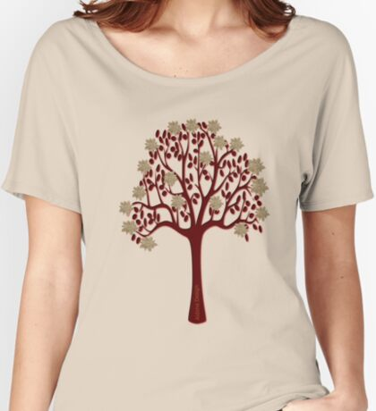 A tree with flowers [1332 Views] Women's Relaxed Fit T-Shirt