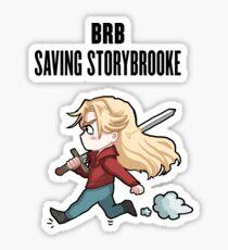 BRB - saving storybrooke Sticker