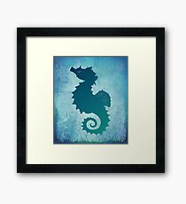 """Seahorse of a Different Color"" by Amber Marine ~ sea life mixed media art, © 2016 Framed Print"