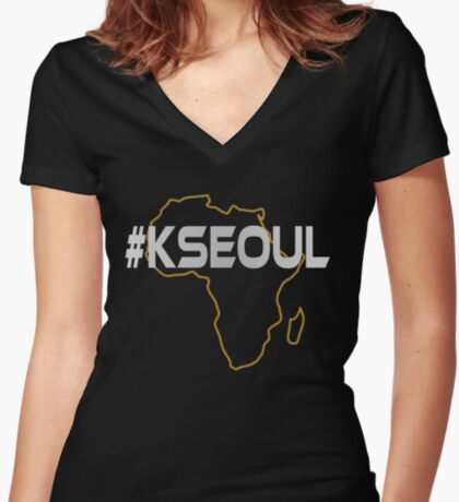 #KSEOUL Third Culture Series Fitted V-Neck T-Shirt