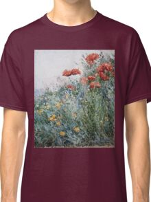 Vintage famous art - Childe Hassam - Poppies, Appledore Classic T-Shirt