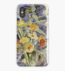 Vintage blue art - Charles Demuth - Spray Of Flowers iPhone Case/Skin