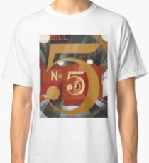 Vintage famous art - Charles Demuth - I Saw The Figure 5 In Gold Classic T-Shirt