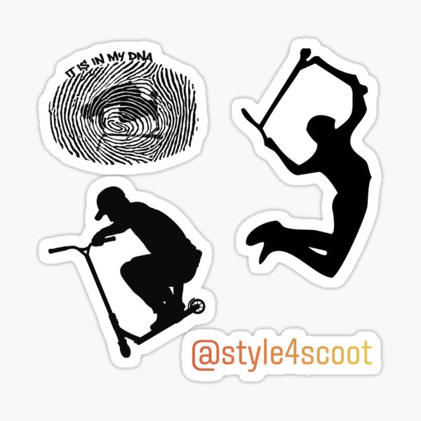 Trottinette acrobatique Stunt Deck Grab Sticker