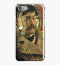 Vintage famous art - James Tissot - Self Portrait iPhone Case/Skin