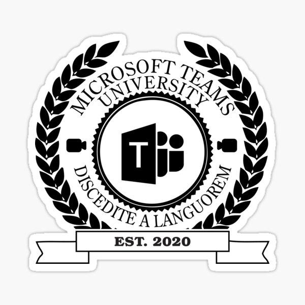 Microsoft Teams University, Established of 2020 • Monocolor Sticker