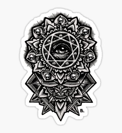 Eye of God Flower Mandala Sticker