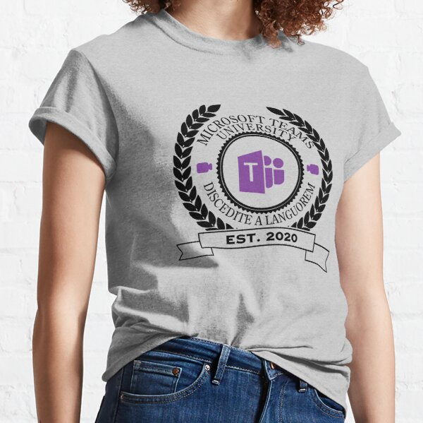 Microsoft Teams University, Established 2020 (Color) Classic T-Shirt