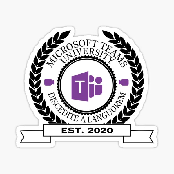 Microsoft Teams University, Established 2020 (Color) Sticker