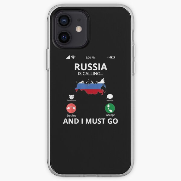 Russia Calls And I Must Go Russia  iPhone Soft Case