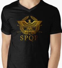 SPQR Rome  Men's V-Neck T-Shirt