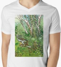Water of Leith outside Edinburgh sketch V-Neck T-Shirt