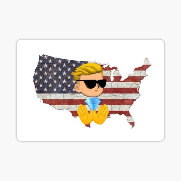 WallStreetbets Diamond Hands US Flag Sticker
