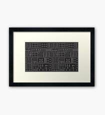BLACK MODULAR Framed Print