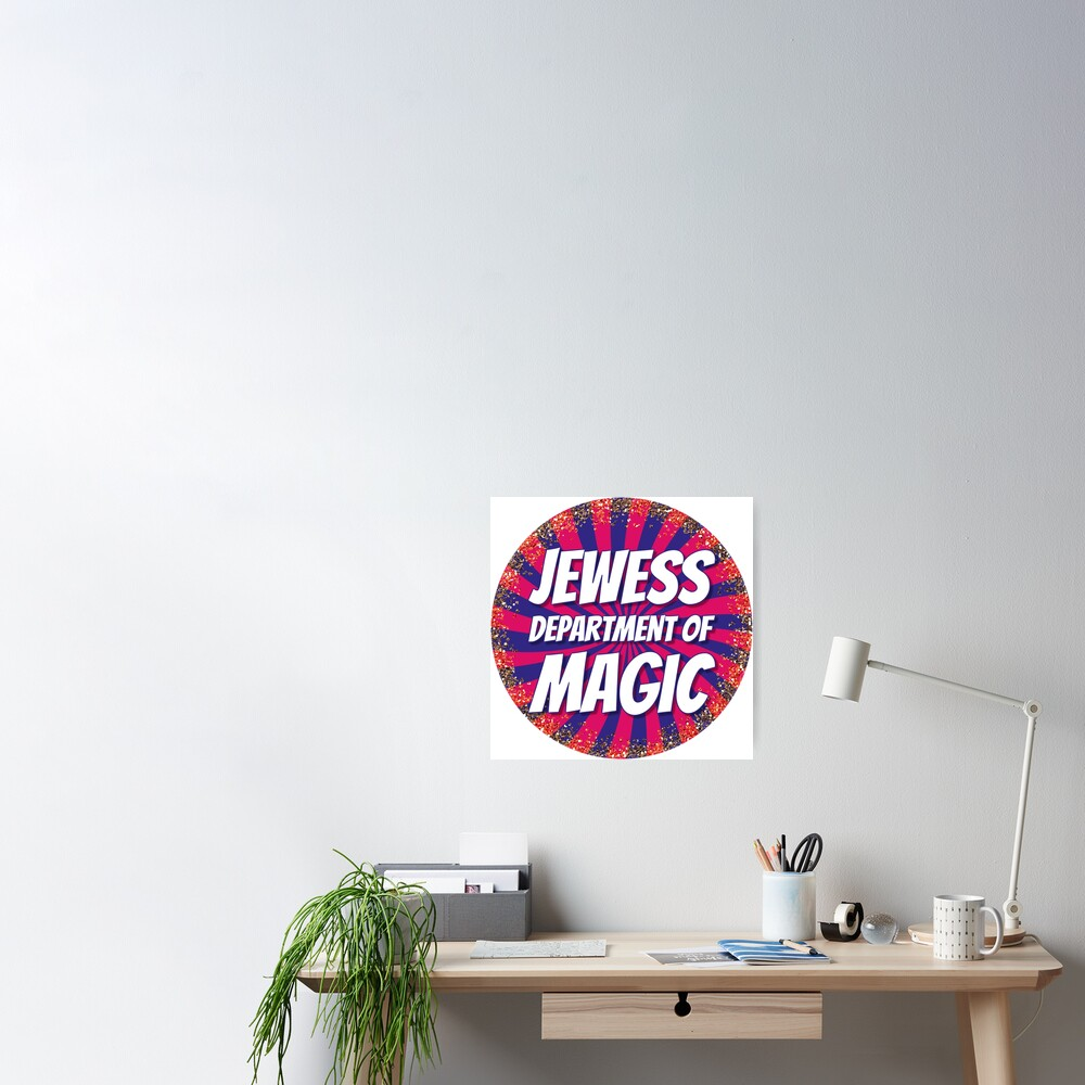 Jewess Department of Magic [round logo] Poster