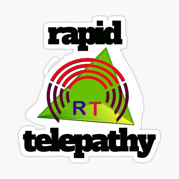 Rapid Telepathy-black. Sticker