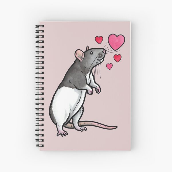 Hooded rat love (topear) Spiral Notebook