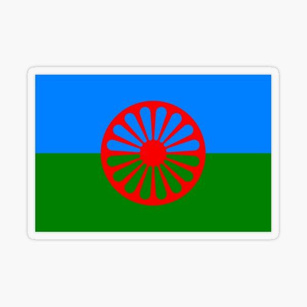 Flag of the Romani people Transparent Sticker
