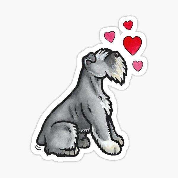 Mini Schnauzer love Sticker