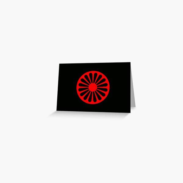 Romani anarchist flag Greeting Card