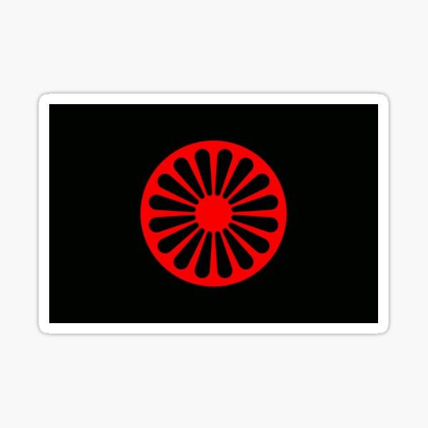 Romani anarchist flag Sticker