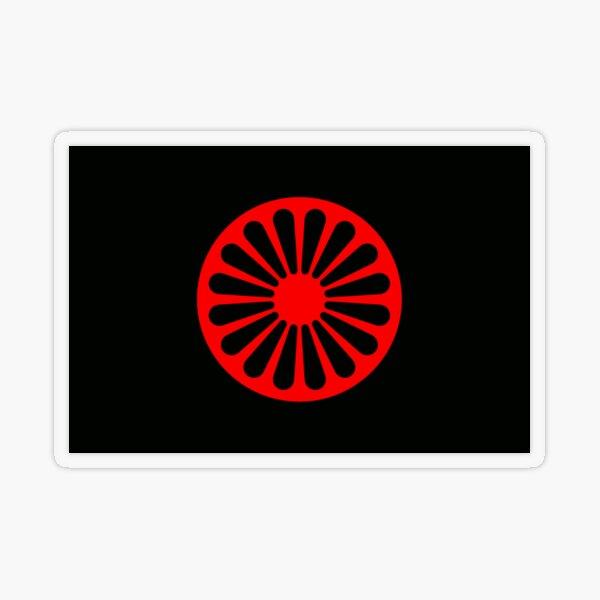 Romani anarchist flag Transparent Sticker