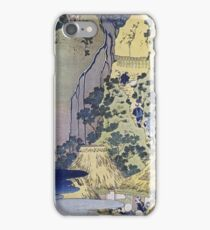 Vintage famous art - Hokusai Katsushika - Travellers Climbing Up A Steep Hill iPhone Case/Skin