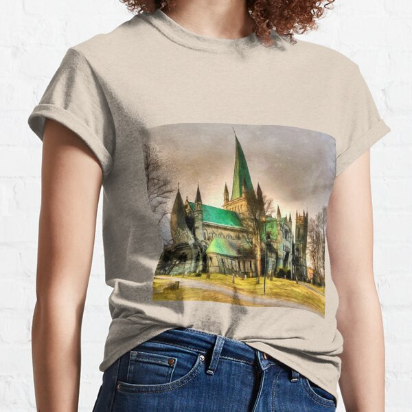 Nidaros Cathedral is a Cathedral of the Church of Norway in the city of Trondheim, Trondelag county.  Classic T-Shirt