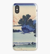 Vintage famous art - Hokusai Katsushika - Shichiri Beach In Sagami iPhone Case/Skin