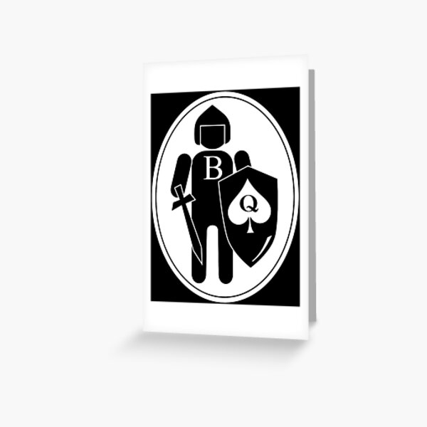Beta Male Fighting For His Queen of Spades Greeting Card