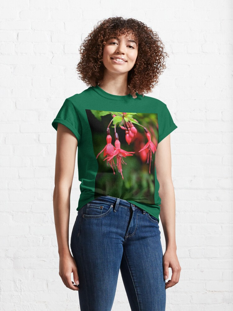 Alternate view of Fuchsia Hedge at Loch Na Fooey 3 Classic T-Shirt