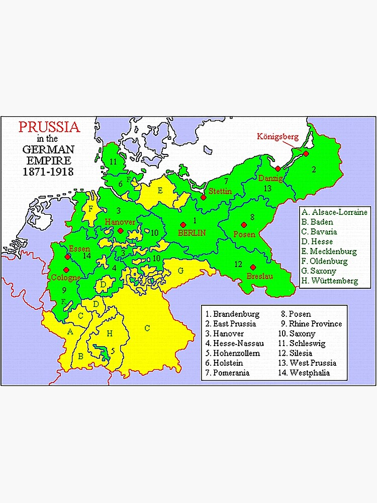 Map of the states of Prussia, 1871 by edsimoneit