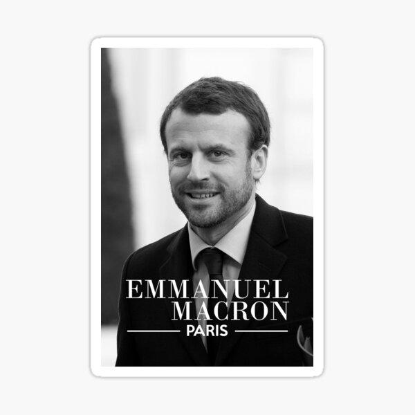 "Emmanuel Macron Costard ""Paris"" - #ourshirtpourmacron Sticker"
