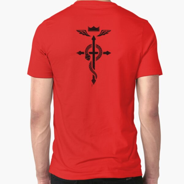 Fullmetal Alchemist Flamel - Black Slim Fit T-Shirt