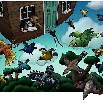 Flying House by mikelevett