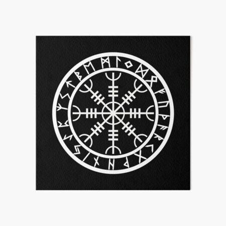 Helm of Awe | Rune Circle (Variant II) Art Board Print