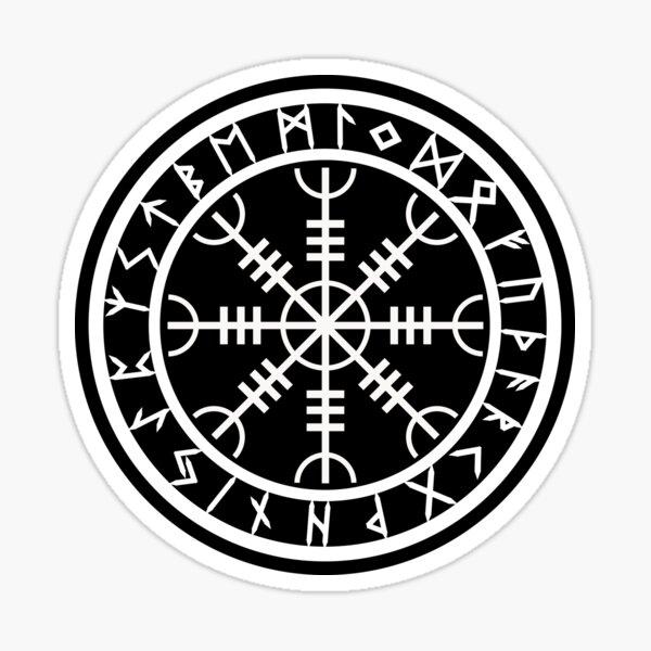 Yelmo de asombro | Círculo de runas (variante II) Pegatina
