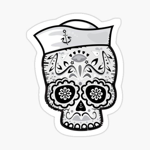 Marinero muerto sugar skull Sticker