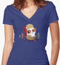 Squirrel Vengeance Women's Fitted V-Neck T-Shirt