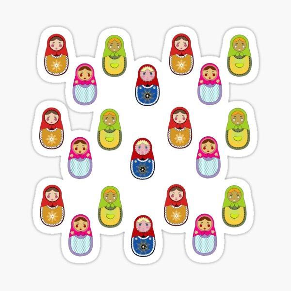 Les petites matriochkas Sticker