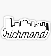 Richmond Virginia Skyline Sticker