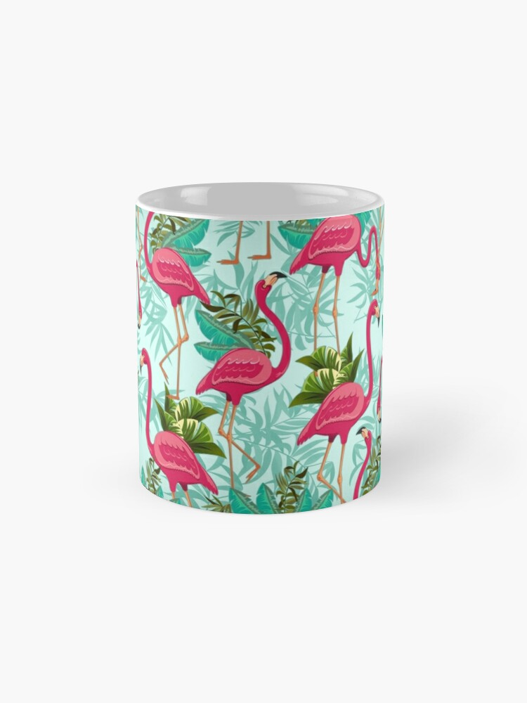 Alternative Ansicht von Pink Flamingos Exotic Birds Tasse