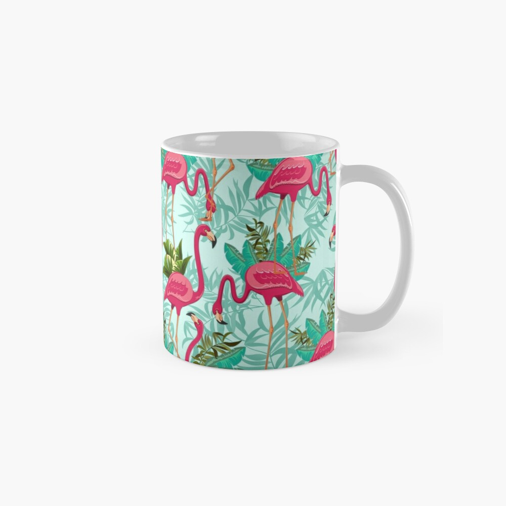 Pink Flamingos Exotic Birds Tasse