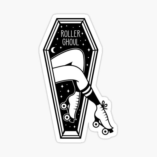 Roller Ghoul (Light) Sticker