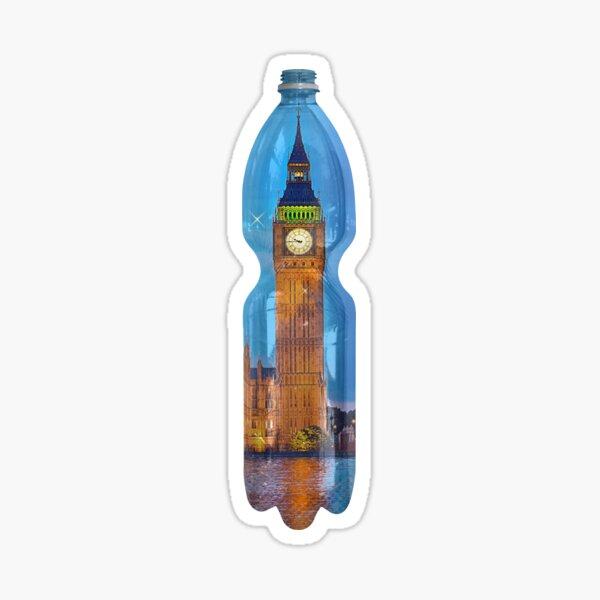 big ben hermetic lockdown in a PET bottle by Leo Haz Sticker
