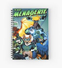 The Mighty Menagerie Spiral Notebook