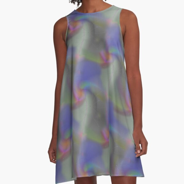 La Douleur Abstract Pattern A-Line Dress