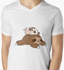 Sloth and Tiny Cow T-Shirt